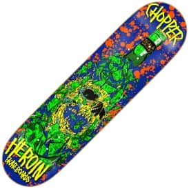 Heroin Skateboards Hiroiton x Chopper Skull Skateboard Deck 8.0""
