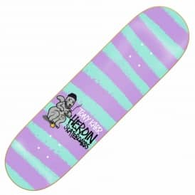 Heroin Skateboards Karr Striped Icon Skateboard Deck 8.25''