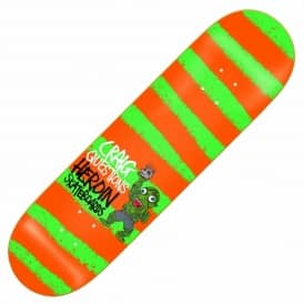 Heroin Skateboards Questions Striped Icon Skateboard Deck 8.44''