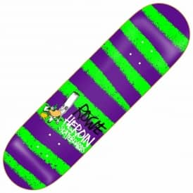 Heroin Skateboards Rogie Striped Icon Skateboard Deck 8.75''
