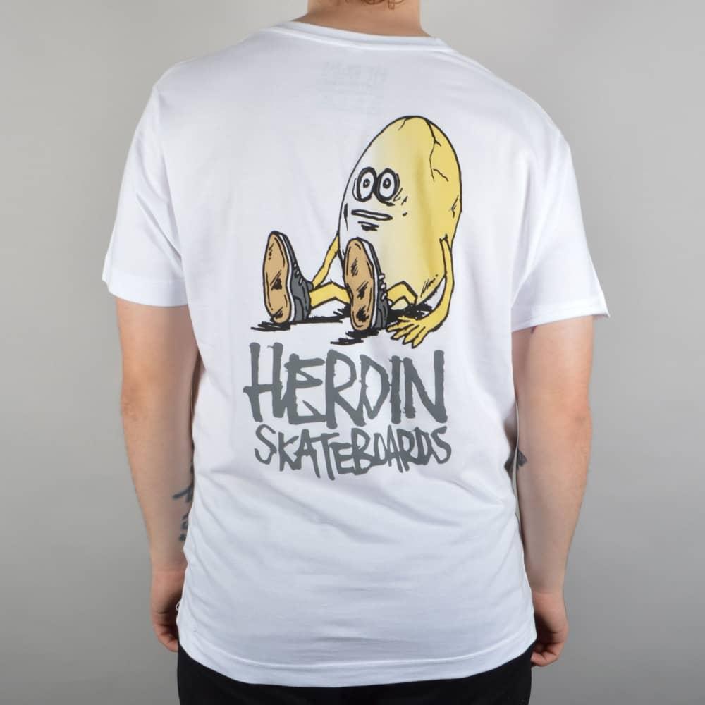 8a256c53a51 Heroin Skateboards The Egg Skate T-Shirt - White - SKATE CLOTHING ...