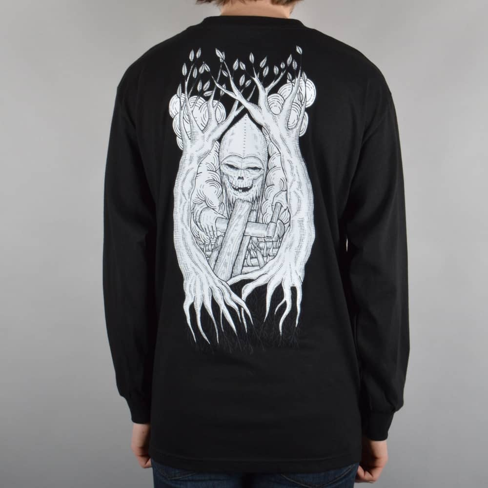 9b483881dc18 Heroin Skateboards Woodsman Long Sleeve T-Shirt - Black - SKATE ...