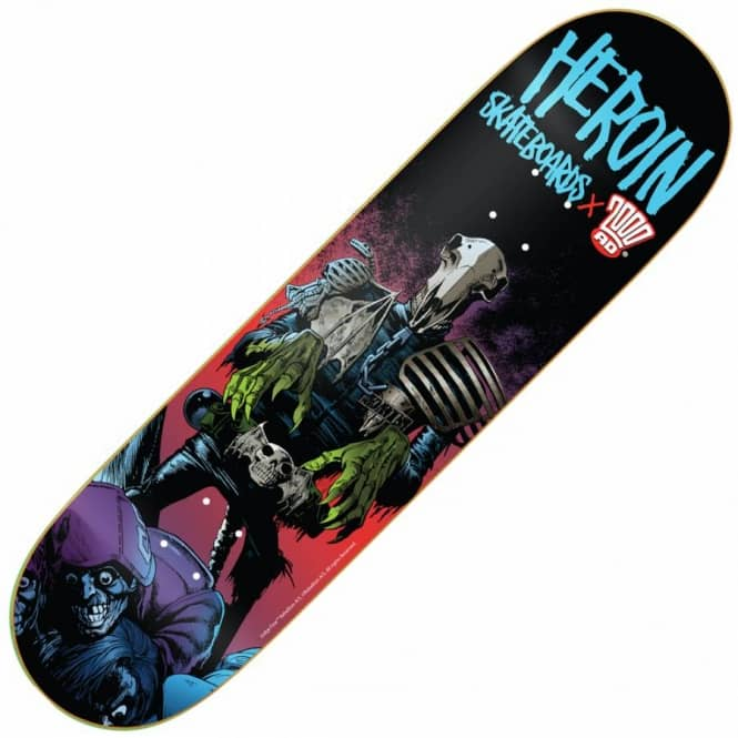 Heroin Skateboards x 2000AD Dark Judges Mortis Skateboard Deck 8.38