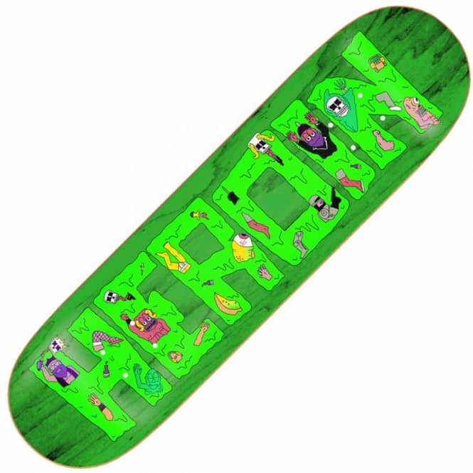 Heroin Skateboards Yabo Slime Green Skateboard Deck 8.44