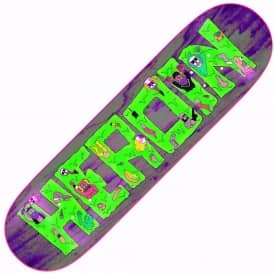 Heroin Skateboards Yabo Slime Purple Skateboard Deck 8.44""