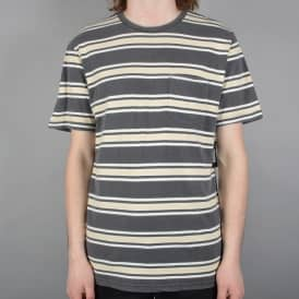 Hilt Striped Pocket Tshirt - Washed Black