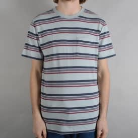 Hilt Washed Striped Pocket T-Shirt - Stone