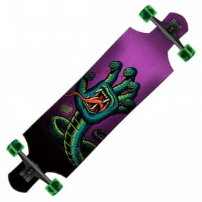 "Santa Cruz Skateboards Hissing Hand Drop Down Complete Longboard -10.0"" x 40.0"""