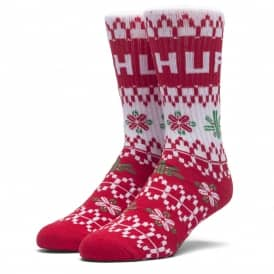 Holiday Sweater Socks - Red