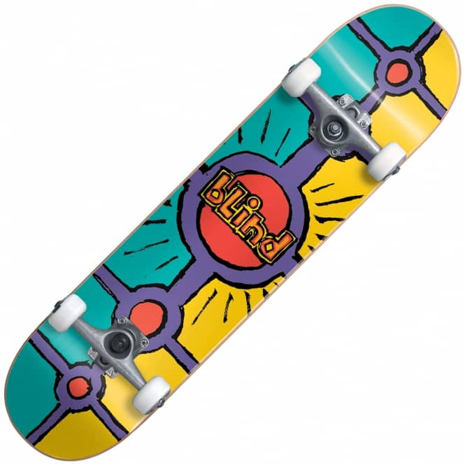 Blind Skateboards Holy Grail Teal Yellow FP Complete Skateboard 8.0