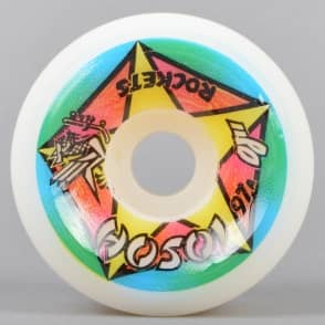 OJs Wheels Hosoi Sky Rockets Reissue White 97A Skateboard Wheels 61mm
