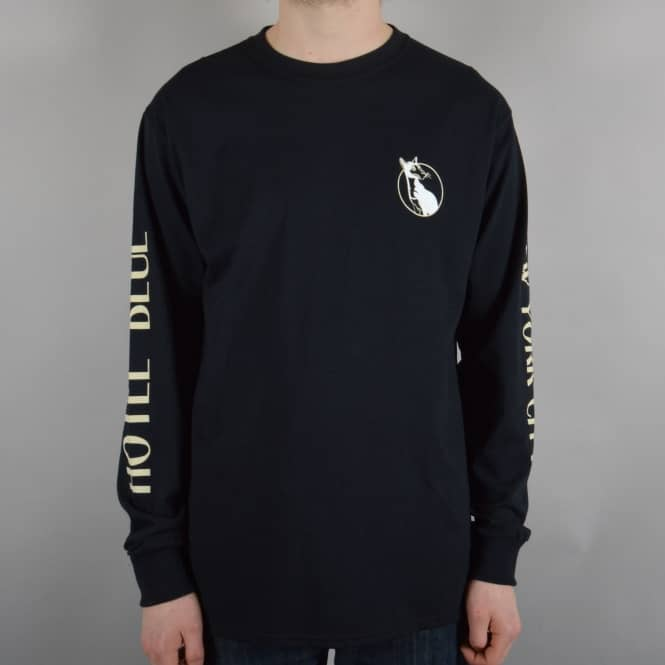 Hotel Blue Skateboards Siamese Longsleeve T-Shirt - Black