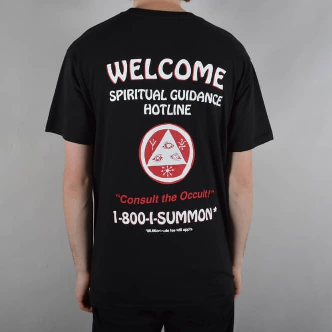 Welcome Skateboards Hotline Skate T-Shirt - Black