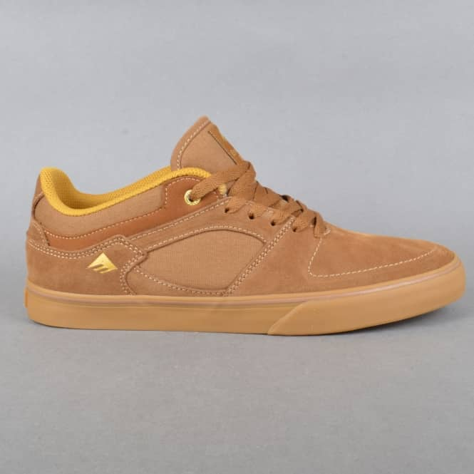 Emerica Hsu Low Vulc Skate Shoes - Brown/Gum
