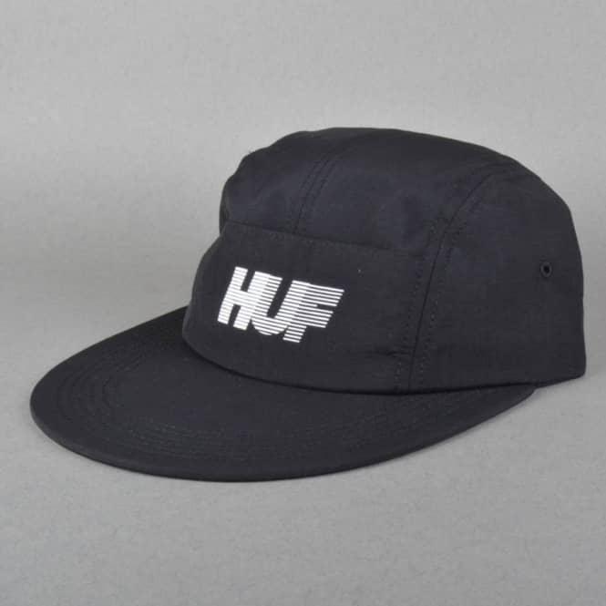 HUF 10K Long Brim Volley 5 Panel Cap - Black - Caps from Native ... d9f37e6da0a