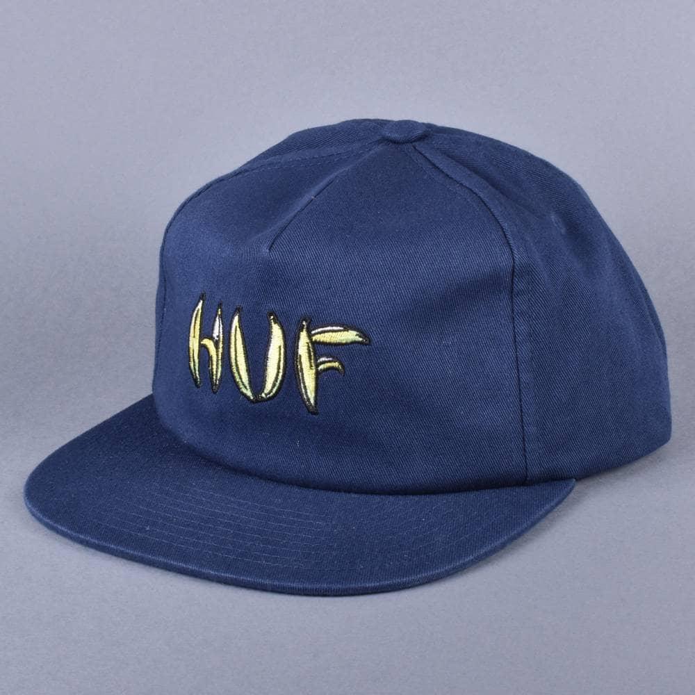 HUF Banana Snapback Cap - Midnight Navy - SKATE CLOTHING from Native ... 21de400745b