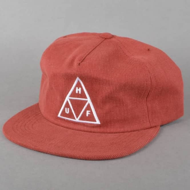 HUF Bedford Triple Triangle Snapback - Burgundy