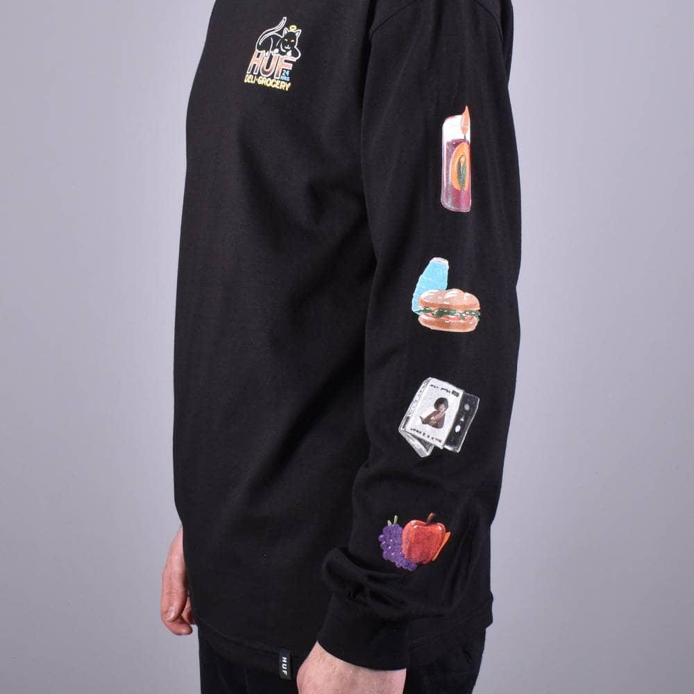 d6530f4a HUF Bodega Long Sleeve Skate T-Shirt - Black - SKATE CLOTHING from ...