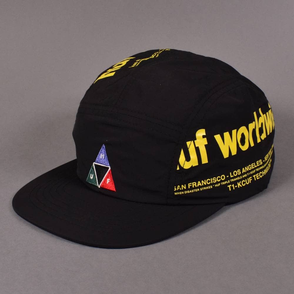 d79c4bfac7cd1 HUF Boulevard Volley Toggleback Cap - Black - SKATE CLOTHING from ...