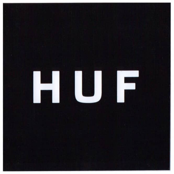 HUF Huf Box Logo Small Sticker - Black