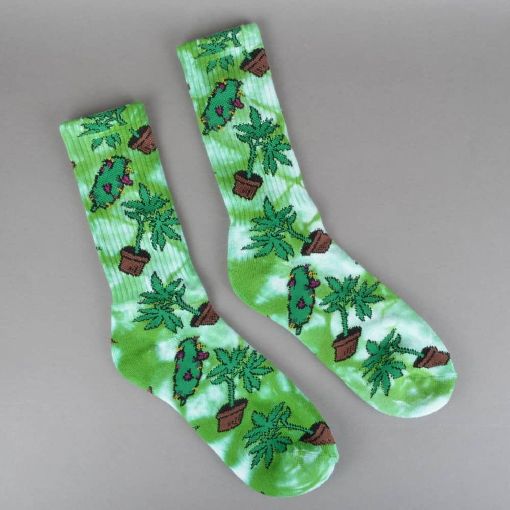 ab1b4897845 HUF Bud Crew Socks - Green - ACCESSORIES from Native Skate Store UK