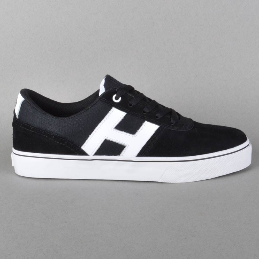 huf choice skate shoes black white huf from