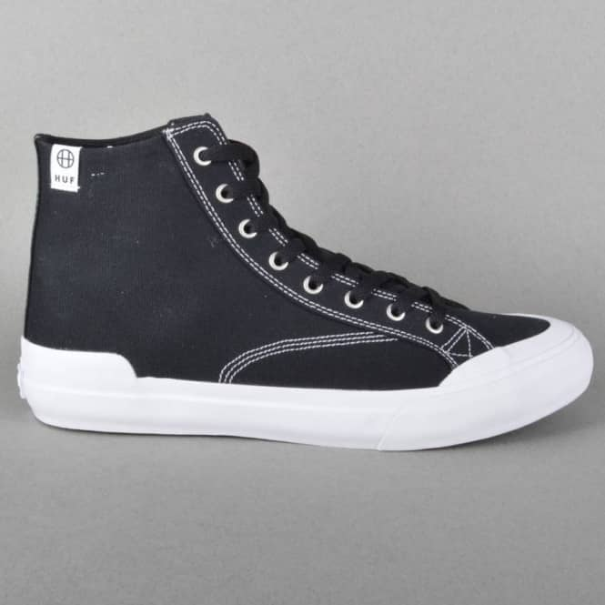 HUF Classic Hi Skate Shoes - Black Canvas