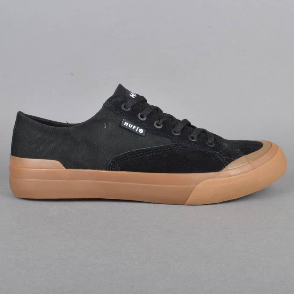 HUF Classic Lo Ess Skate Shoes - Black