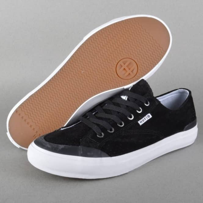5ceb042455968 HUF Classic Lo Skate Shoes - Black Perf/White - SKATE SHOES from ...