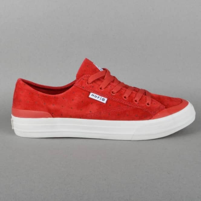HUF Classic Lo Skate Shoes - Red Dot