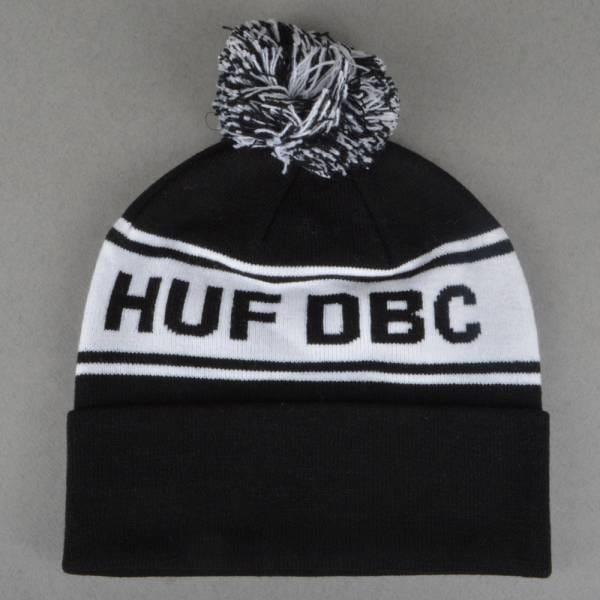 92ef63ff1e1 HUF DBC Pom Pom Beanie - Black White - SKATE CLOTHING from .