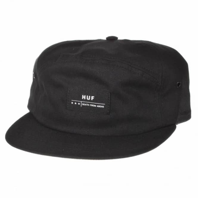 HUF Death From Above 6 Panel Volley Cap Black