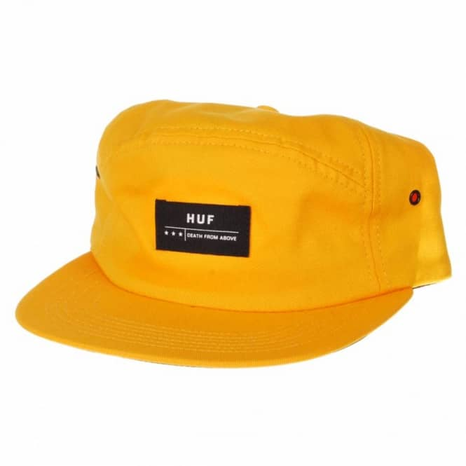 db473d9fb59 HUF Huf Death From Above 6 Panel Volley Cap Gold - Caps from Native ...