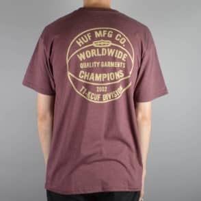HUF Division Champions T-Shirt - Wine Heather