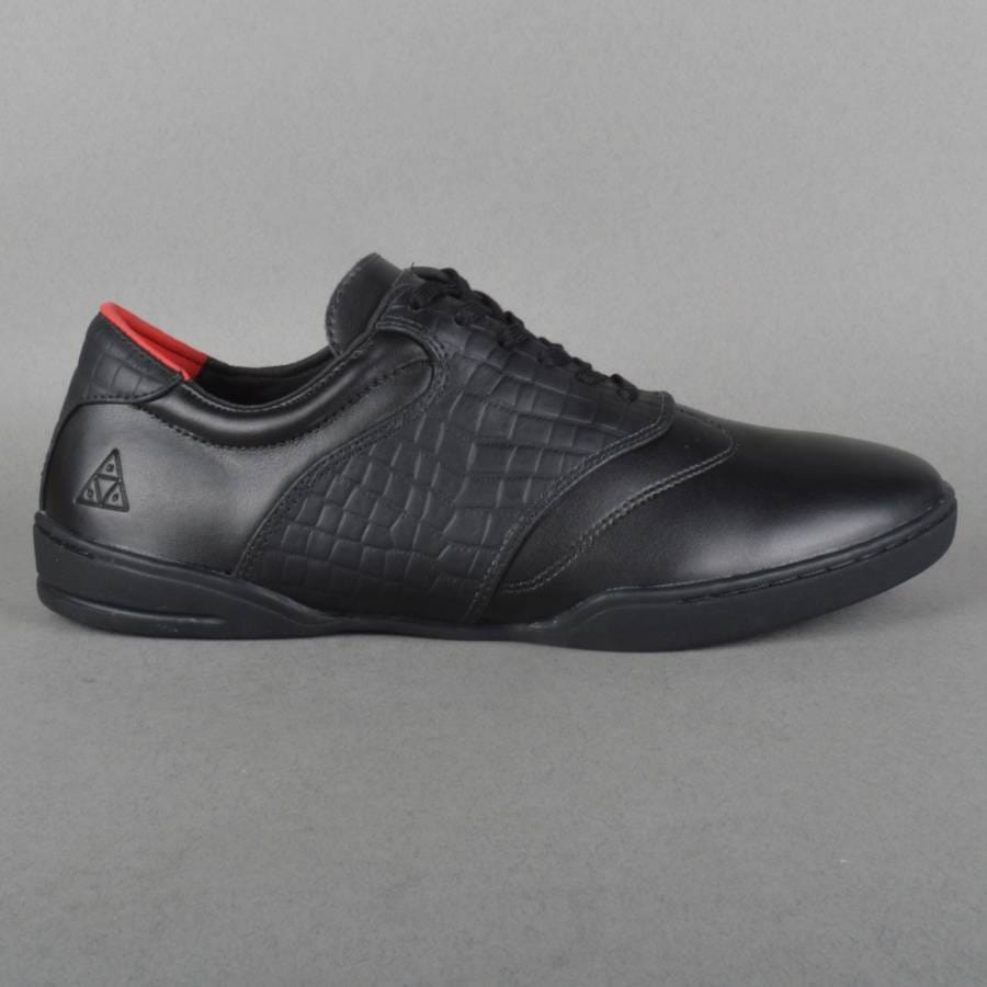 huf skate shoes black leather croc huf from