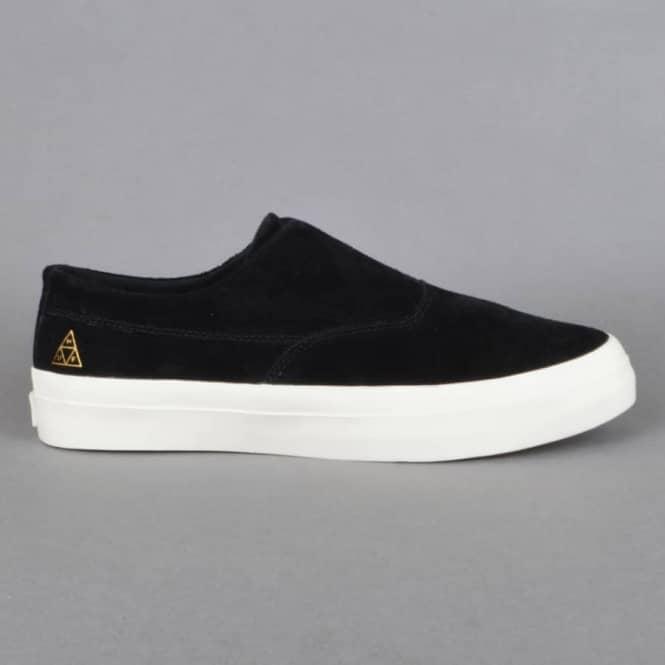 08c4ec65c5 HUF Dylan Slip On Skate Shoes - Black White - SKATE SHOES from ...