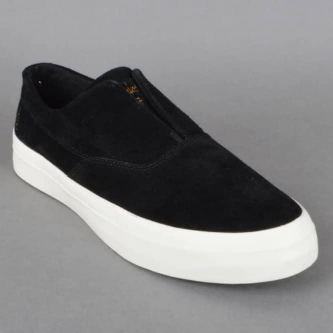 91f4905ab680da HUF Dylan Slip On Skate Shoes - Black White - SKATE SHOES from ...