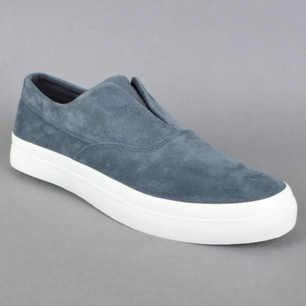 2304620663fe HUF Dylan Slip On Skate Shoes - Dark Navy - SKATE SHOES from Native ...