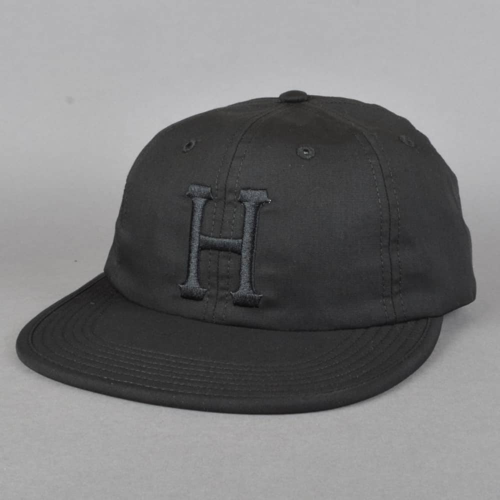HUF Formless Classic H 6 Panel Cap - Black Black - SKATE CLOTHING ... eb636f8b71f7