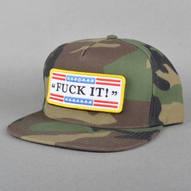 HUF Fuck It Tactical Snapback Cap - Woodland Camo - SKATE CLOTHING ... 9bbeabf43e7