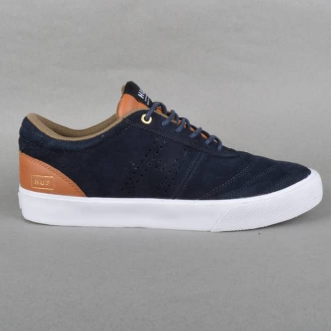 HUF Galaxy Skate Shoes - Blue Graphite/Cashew