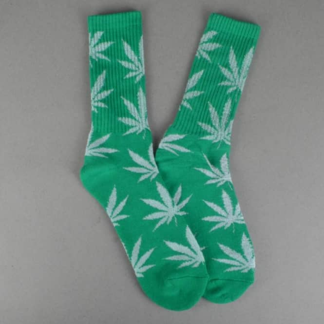 f32803dc369 HUF Glow In The Dark Plantlife Crew Socks - Green - ACCESSORIES from ...