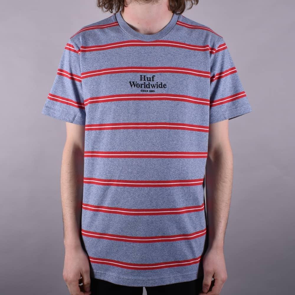 75466bc53c HUF Golden Gate Stripe T-Shirt - Blue - SKATE CLOTHING from Native ...