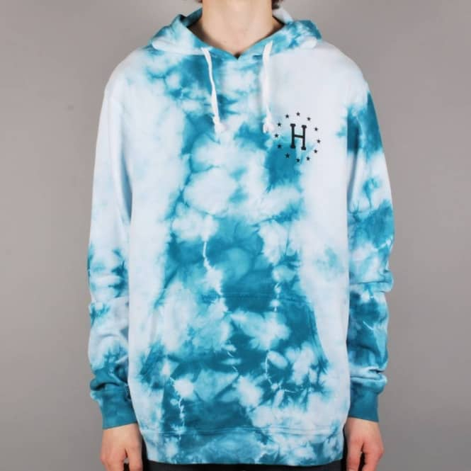 HUF Huf 12 Galaxy Pullover Hoodie - White/Jade - Hooded Tops from ...