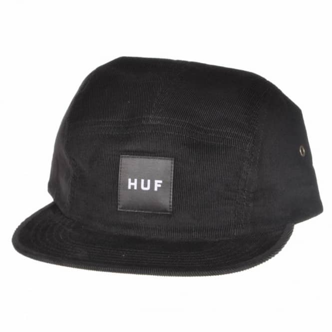 HUF Huf Cord Box Volley 5 Panel Cap - Black - Caps from Native Skate ... f53c51190ad