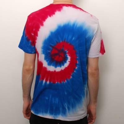 Huf Huf Die Hippy Scum Tie Dye T Shirt Red White Blue