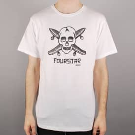 Fourstar Clothing Fourstar Dressen Pirate Skate T-Shirt - White