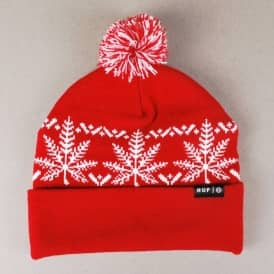 Huf Nordic Bobble Beanie - Red