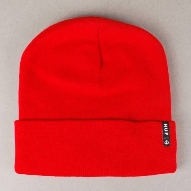 HUF Huf Service Fold Up Beanie - Red
