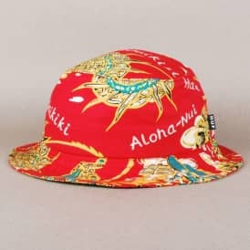 Huf Souvenir Bucket Hat - Red